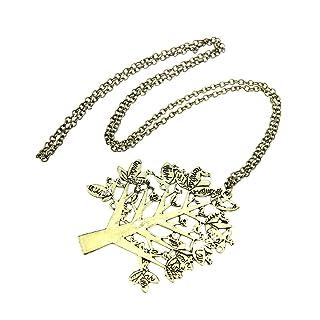 Outflower 1pcs Regalo di Compleanno degli Accessori di Modo della Collana dell'alfabeto della Collana a Forma di Albero di Retro Stile Bronze