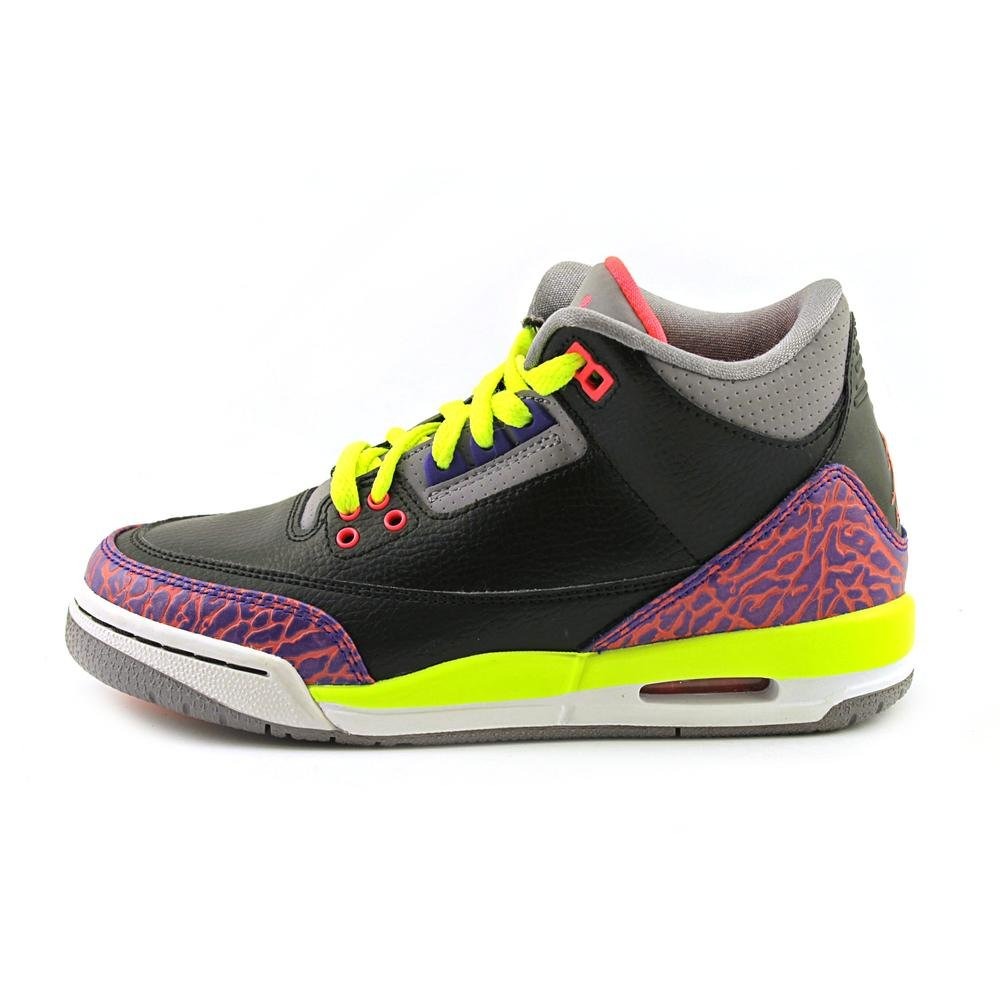 on sale 06c05 831f5 Amazon.com   Nike Girls Air Jordan 3 Retro GS Black Atomic Red Volt (441140- 039)   Running