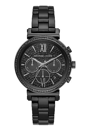 Michael Kors Reloj Cronógrafo para Mujer de Cuarzo con Correa en Acero Inoxidable MK6632: Amazon.es: Relojes