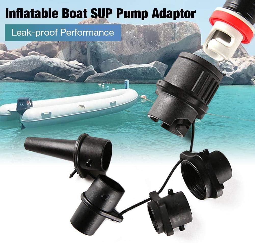 Chuanfeng Schlauchboot Ventil Adapter Auslaufsichere Luftventil Adapter SUP Pumpe Kompressor Zubeh/ör F/ür Aufblasbare Kajak Betten