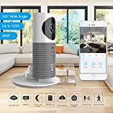 Clever Dog 2nd Generation 960P 120°Wide Angle Lens Wireless security wifi camera Support Max 128GB SD card / Support Cloud Stotage(with adaptor)(Grey)