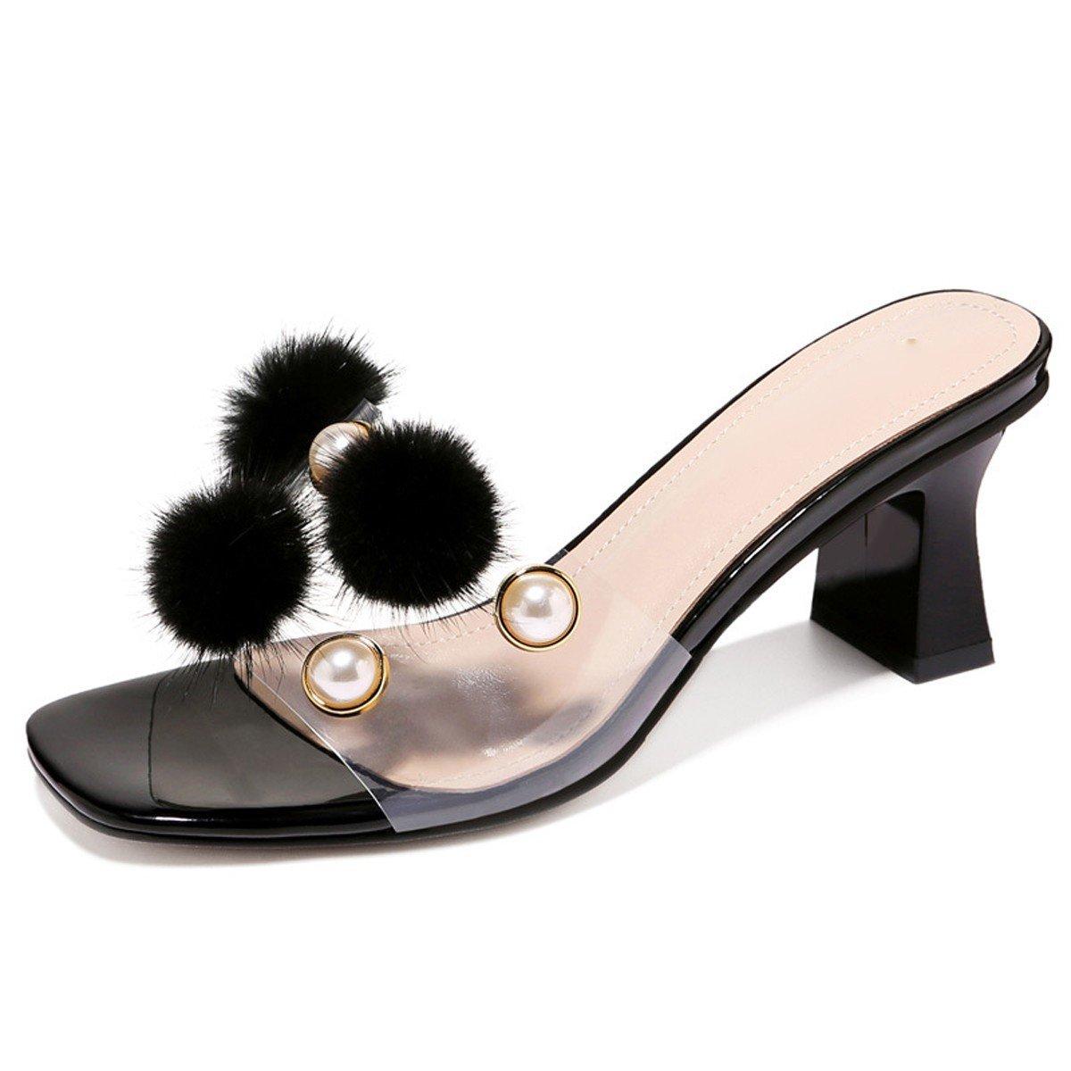 GTVERNH Damenschuhe Sommer - Mode Bietet Damenschuhe Transparente Wort Drag - and - Beach - Schuhe.