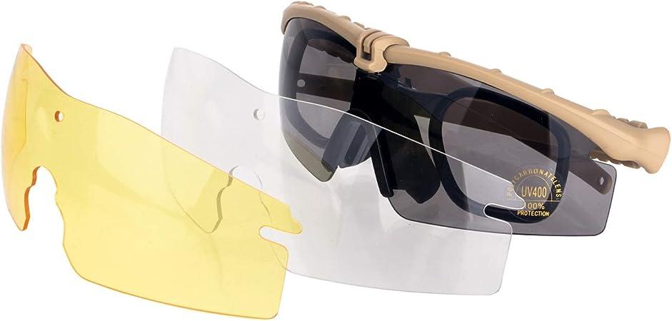 Lunettes de Soleil Anti-Brouillard Lunettes pour Hommes Surlunettes de Protection Noir Lunette de Soleil Homme Anti-UV400 FOCUHUNTER Lunette de Protection