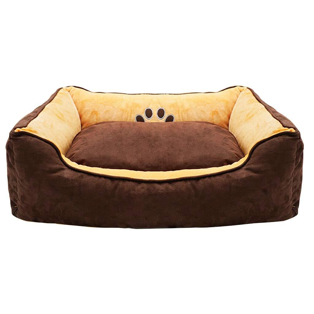 risparmia fino al 30-50% di sconto Zaino Zaino Zaino Cuscino per sdraiarsi Pet in pelle scamosciata Completamente rimovibile Resistente all'usura Cani per gatti Lettiera per cani Marronee - Scelta del formato cani (dimensioni   65cmx55cmx19cm)  è scontato