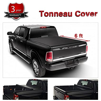 c5bd0988a4d Alxiang 1pc Black Vinyl Clamp On Soft Lock   Roll-up Top Mount Tonneau Cover
