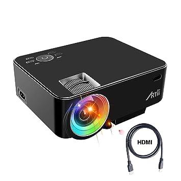 Artlii Proyector portátil, cine en casa, proyector HD de 1080p ...