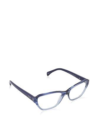068c6da50a Amazon.com: Ray-Ban - RX 5341, Cat Eye, acetate, women, STRIPED BLUE ...