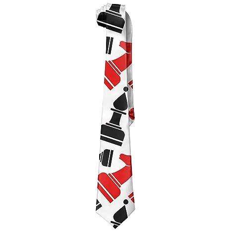 Corbata con patrón de ajedrez de seda maciza, corbata formal para ...