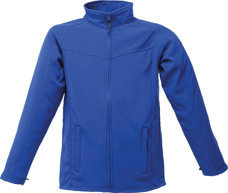 Regatta Uproar Softshell Full Front Zip Breathable Jacket Royal/Seal Grey S-3XL