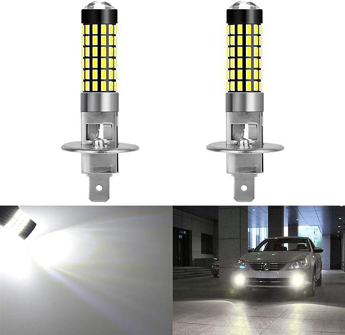 2PCs Car Headlight Fog Lights Lamp Bulbs COB LED H1 10W 12V 6000K White Lights