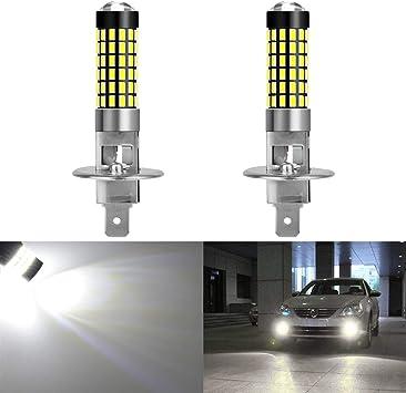 2x H1 24*SMD LED 6500K Fog Tail Driving Car Head Light Lamp Bulb White US Ship