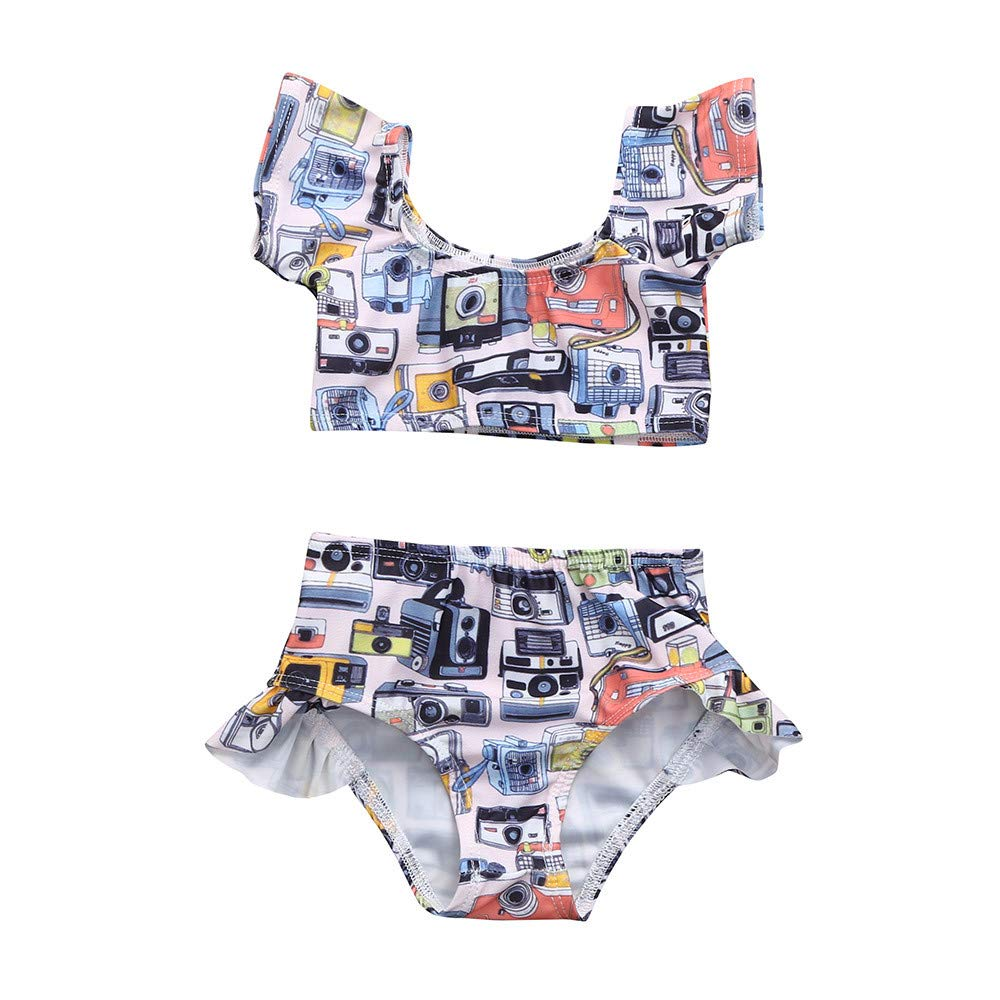 The Childrens Place Big Girls Two Piece Swim Set