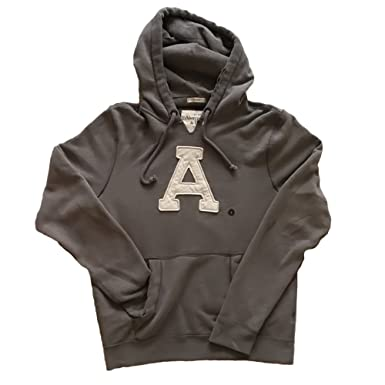 Sudadera capucha Abercrombie & Fitch color gris