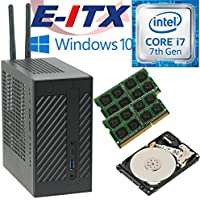 Asrock DeskMini 110 Intel Core i7-7700 (Kaby Lake) Mini-STX System , 32GB Dual Channel DDR4, 1TB HDD, WiFi, Bluetooth, Window 10 Pro Installed & Configured by E-ITX