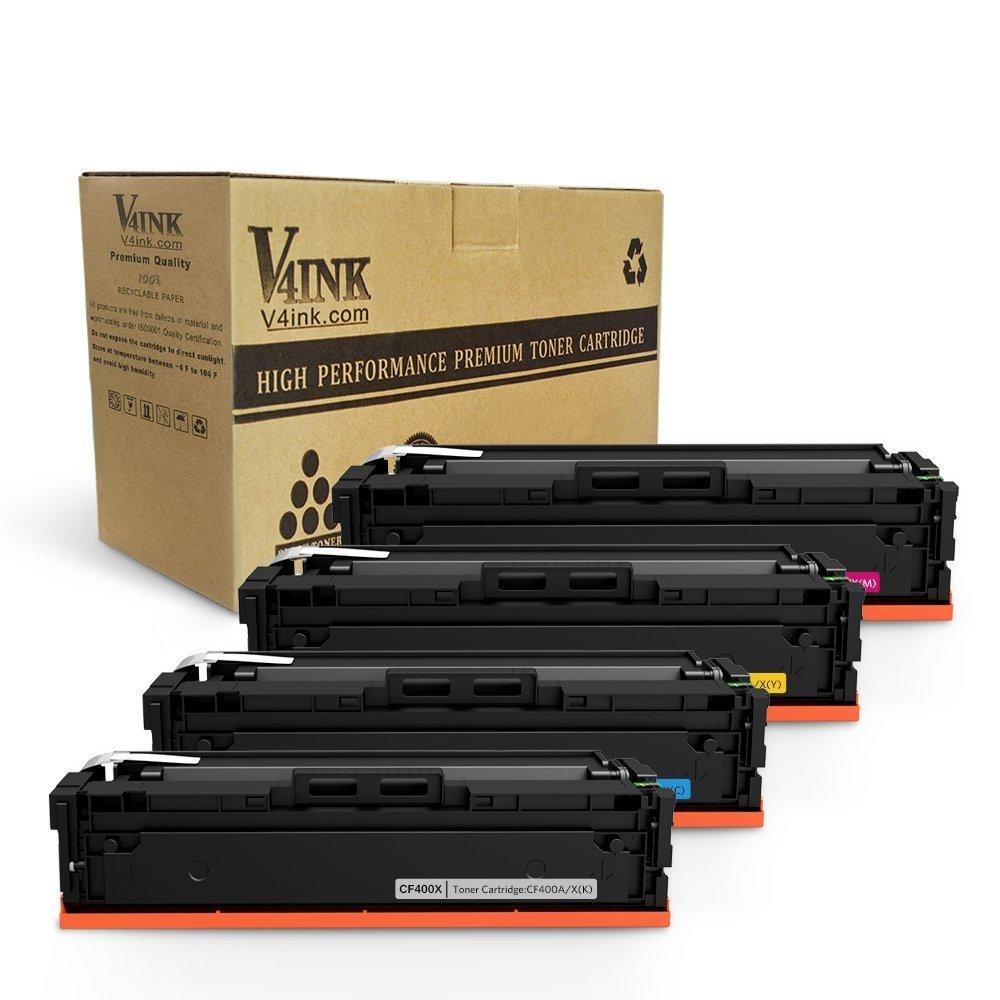 Toner Alternativo ( X4 ) 4 Colores 201X CF400X CF401X CF402X CF403X M252dw M252n MFP M277dw M277n