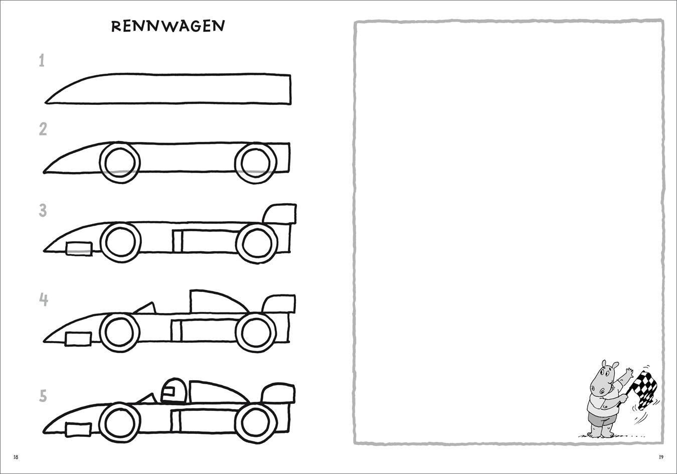 Fahrzeuge Zeichnen Schritt Für Schritt Kleine Zeichenschule Ab 6