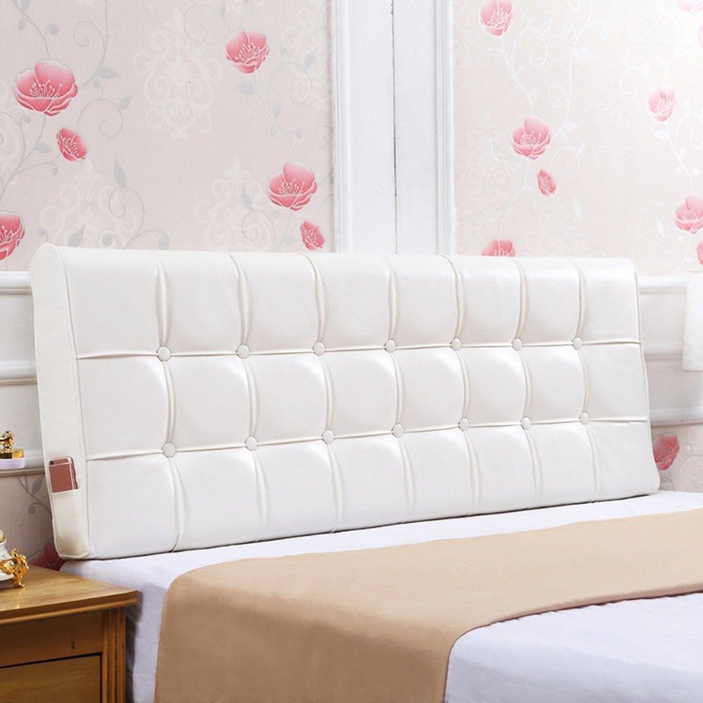 QIANGDA クッション ベッドの背もたれオイルワックスベッド背もたれポジショニングサポートピローベッドベッドでのテレビ視聴用クッション、7色8サイズあり ( 色 : 乳白色 , サイズ さいず : 160*55*12cm ) B0797M9TXY 160*55*12cm 乳白色 乳白色 160*55*12cm