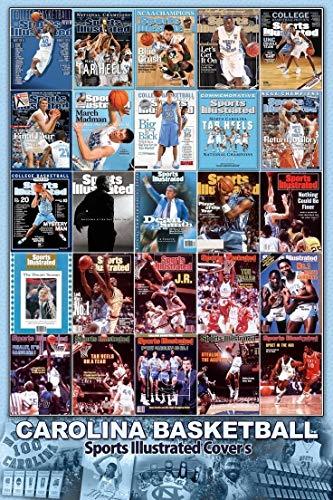 Sports Illustrated North Carolina Tar Heels Poster Collage Dean Smith Michael Jordan UNC Tyler Hansbrough Tywon Lawson James Worthy - Michael Jordan Unc Tar Heels