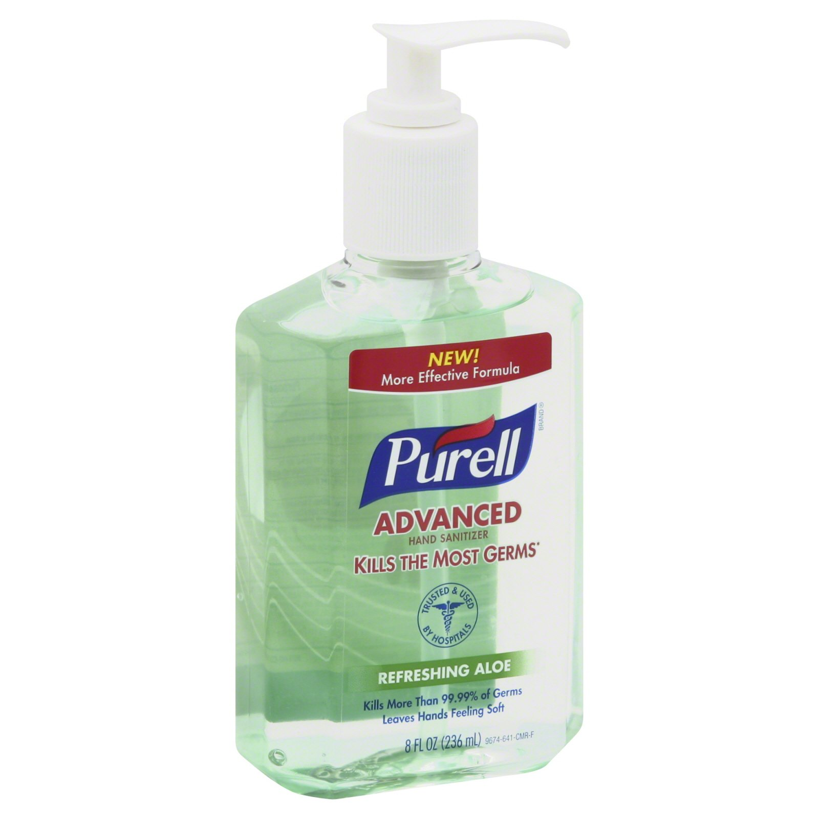 Advanced Hand Sanitizer Soothing Gel, Fresh Scent with Aloe and Vitamin E, 8 oz, 1Each