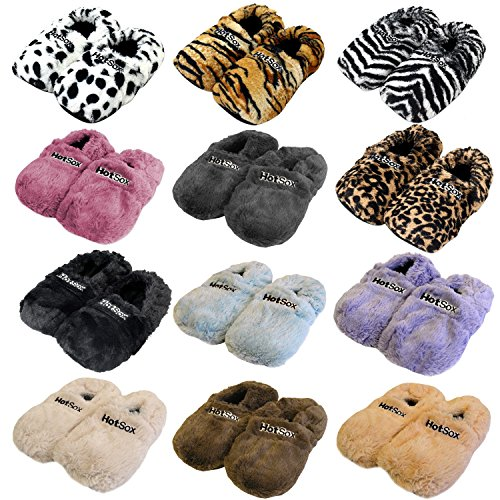 Zapatillas térmicas Pantuflas de granos para el microondas y el horno talla M / EU36-45 - Zapatillas para microondas Pantuflas térmicas multicolor