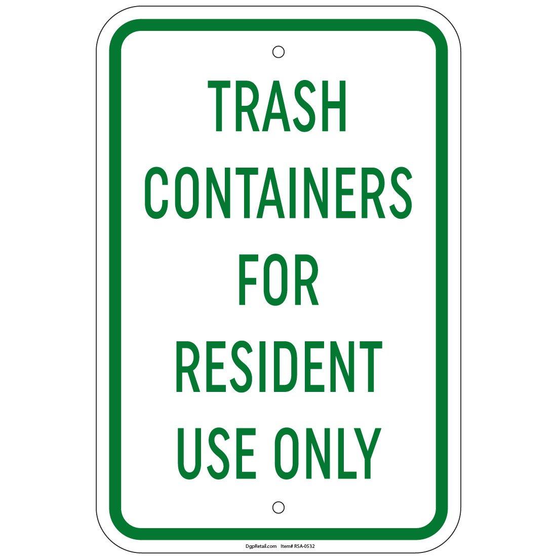 ヘビーゲージTrash residentsのみのコンテナをサイン12