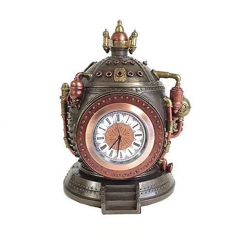 Steampunk Time Machine Clock Trinket Box Statue