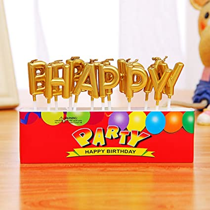Amazon EA STONE Happy Birthday Letter CandlesBirthday Candles
