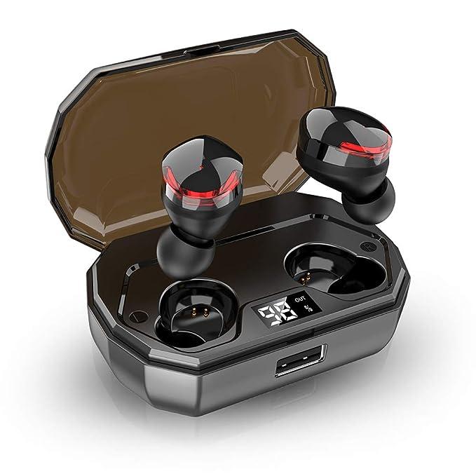 Bluetooth Kopfhörer In Ear Sport Kabellos Ohrhörer IPX8 Wasserdicht, 120H Spielzeit, HD-Stereo, LED Leistungsanzeige, True Bl