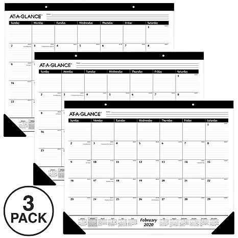 Amazon.com: AT-A-GLANCE 2020 Calendario de escritorio ...