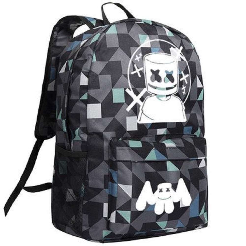 cdba23df0 Mesky Mochila Escolar para Chicas Estudiantes Marshmello Logo Backpack  Bolso Portátil Viaje Luggage Poliéster: Amazon