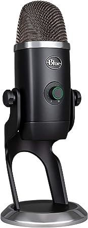 Todo para el streamer: Blue Microphones Yeti X - Micrófono condensador USB profesional con indicadores de alta resolución (iluminación LED y efectos Blue VOICE para gaming, streaming y podcasting en PC/Mac), color Negro