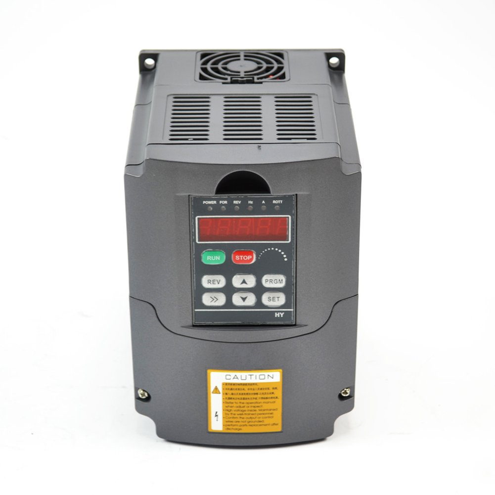 CNC 4KW 4000w 220V 5HP Variable Frequency Drive Inverter VFD for Spindle Motor Speed Control by Huanyang