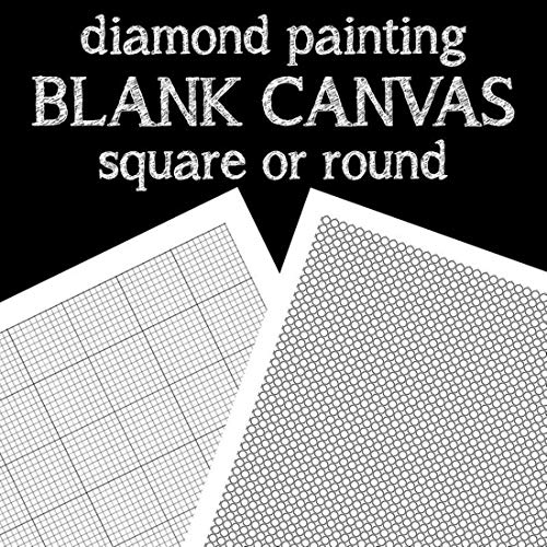 OneHippo 5Pcs/Lot 30x40CM Diamond Painting Canvas Embroidery Canvas with Glue Canvas Round/Square Blank Grid Canvas Empty for Your Private Customized Design with Painting Tools