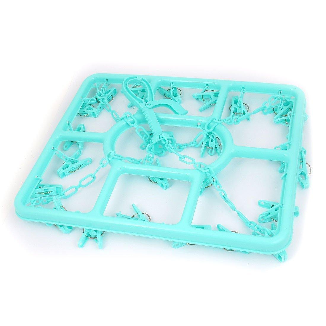 Amazon.com: eDealMax Estructura de plástico DE 24 clavijas de ropa Calcetines secado Rack suspensión de Los Clips Verdes: Home & Kitchen