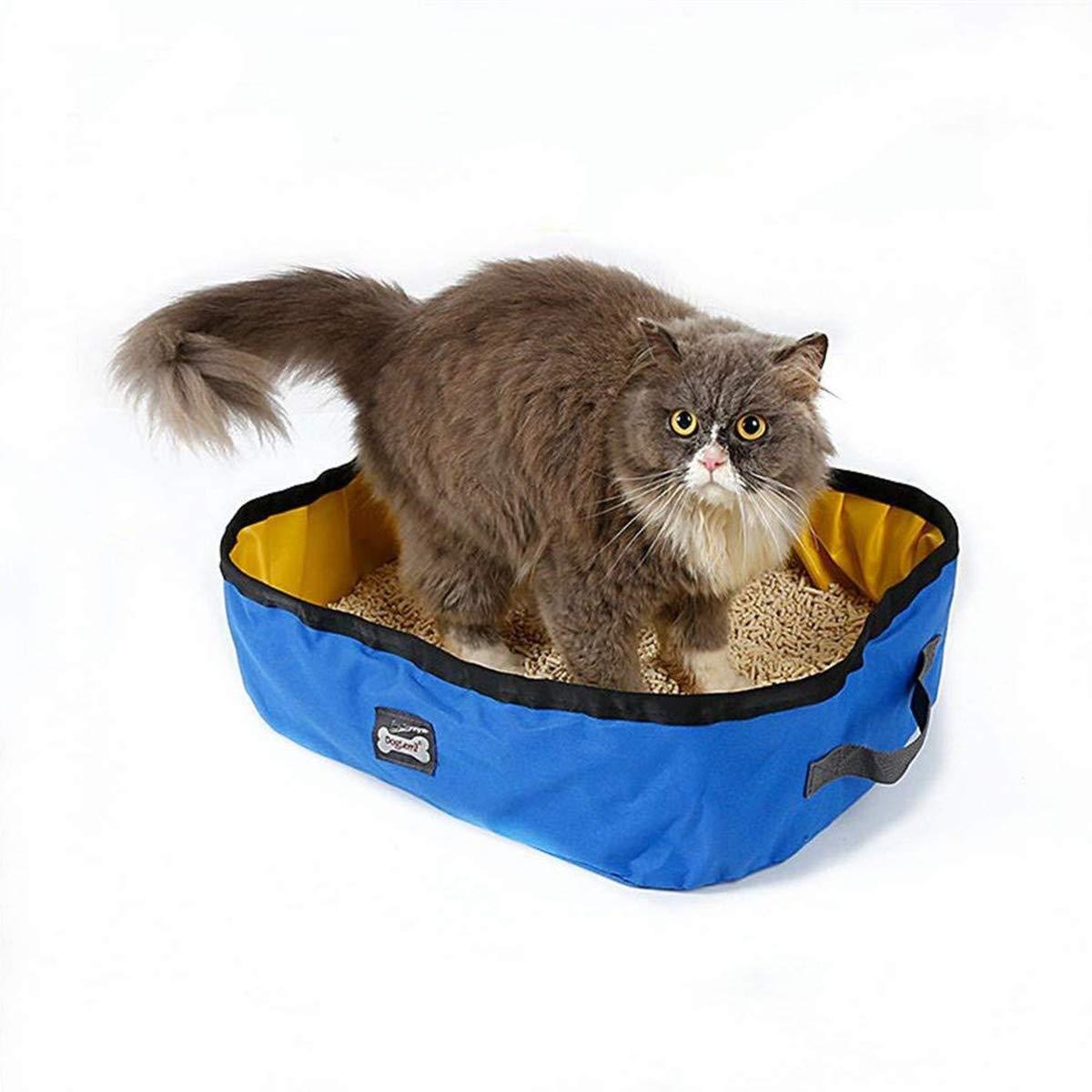 RCruning-EU Caja de Arena Plegable para Gatos Arenero Plegable y portátil para Gatos, Resistente al Agua, para Viajes, al Aire Libre 46 X 35 X 14cm: ...