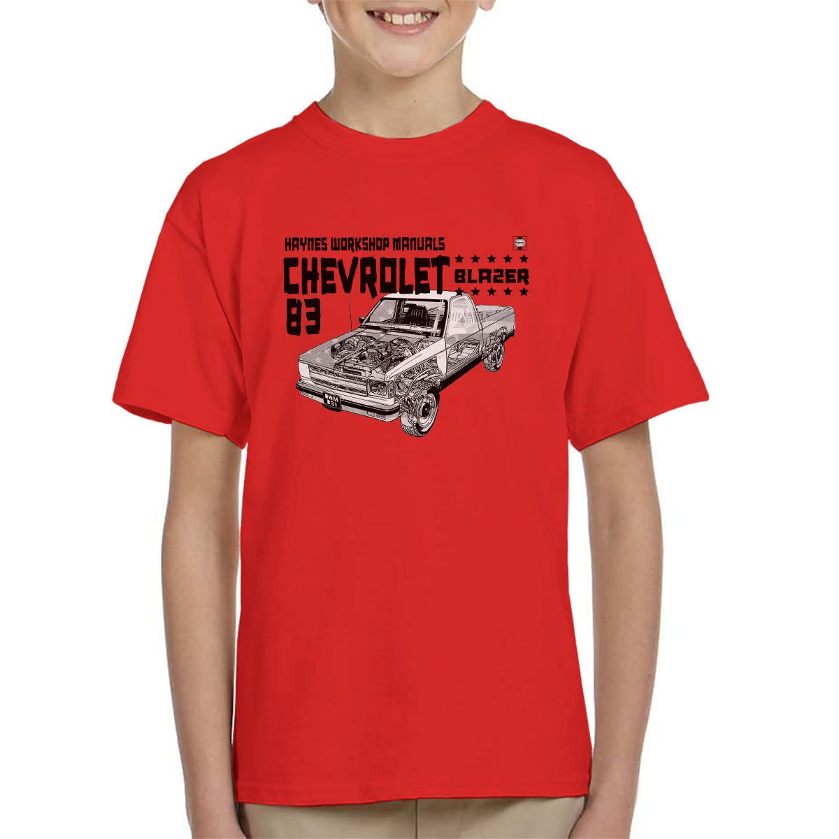 Haynes Owners Workshop Manual Chevrolet Blazer 83 Black Kid's T-Shirt