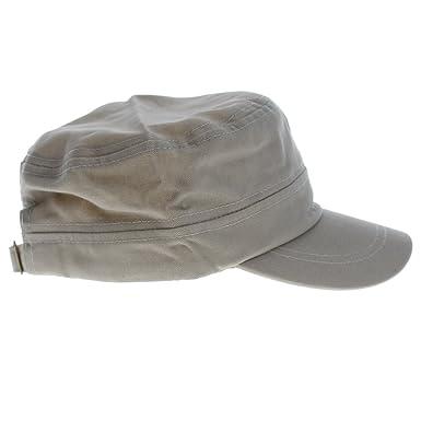 59c7e9a3bec HENGSONG Unisex Trucker Military Hat Cadet Patrol Bush Hat Baseball Visor  Cap (Beige-671112