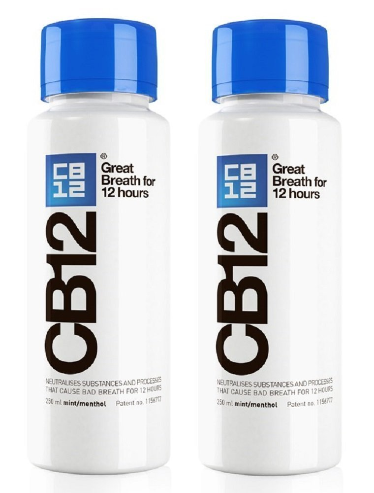 CB12 Mint Menthol Safe Breath Mouthwash (250ml) - Pack of 2