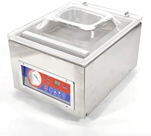 Vacuum Sealer,110V Commercial Kitchen Food Chamber Tabletop Seal Vacuum Packaging Machine Sealer 110V