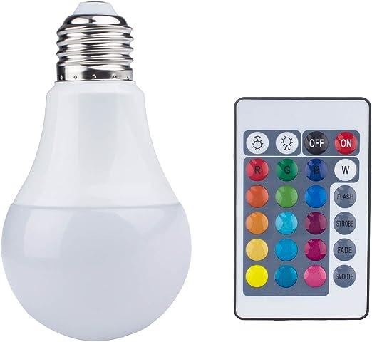 8 w e27 DEL Ampoule Ampoule Avec Télécommande Fête Déco Lumière éclairage