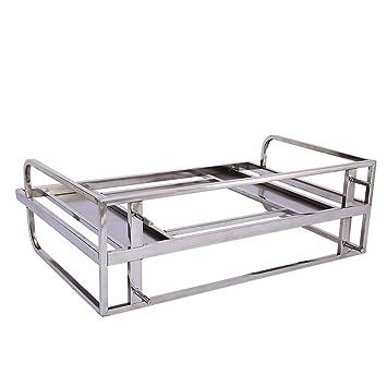 Muebles de cocina Acero inoxidable de una sola capa Horno de microondas Rack Bowls Estante Colgador
