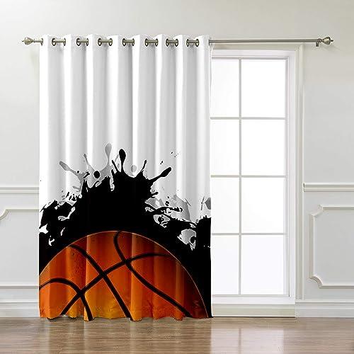 Arts Language Window Treatment Blackout Curtain Grommet Drapes