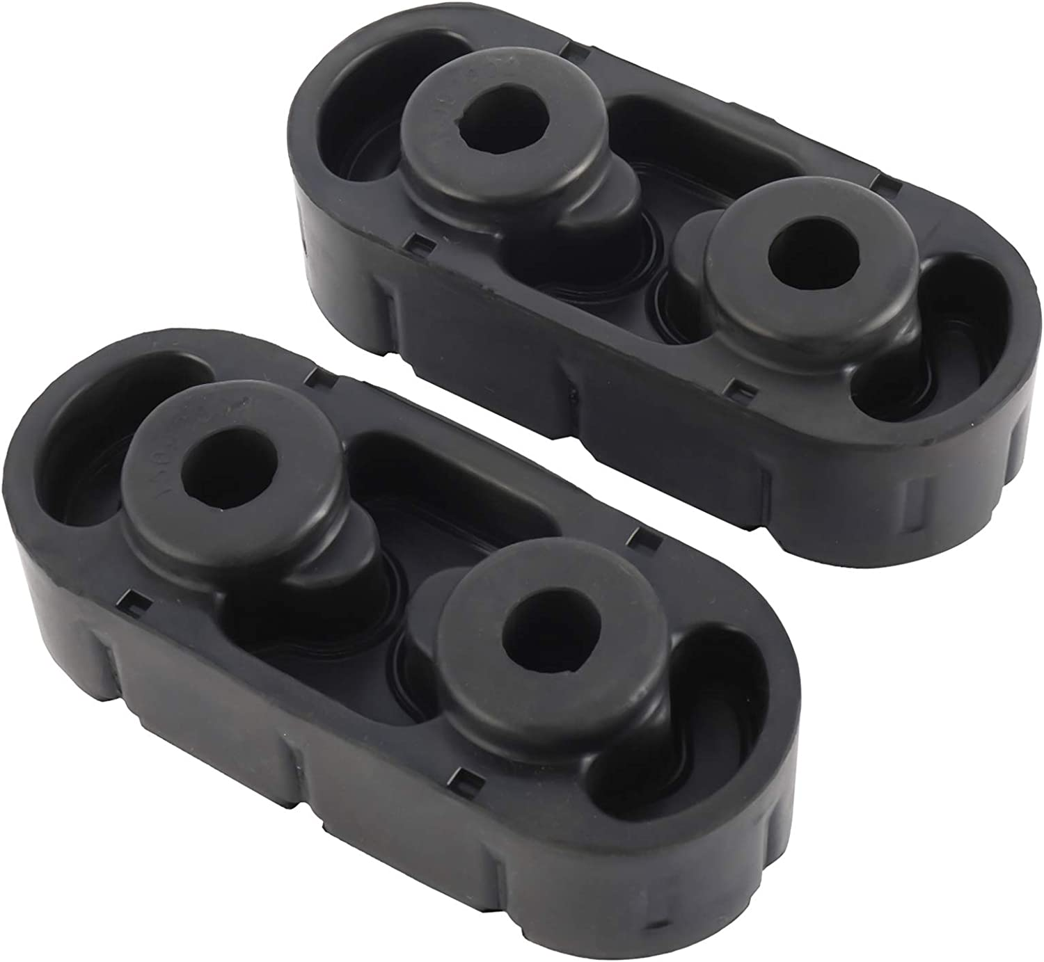 NovelBee 2 Pack of Rubber Exhaust Insulators Hanger Reduces Vibration Compatible with Chevy GMC Cadillac Escalade 15092802