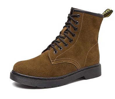 Honeystore Unisex-Erwachsene Bootsschuhe Derby Schnürhalbschuhe Kurzschaft Stiefel Winter Boots für Herren Damen Braun 36CN pqgRmXi94