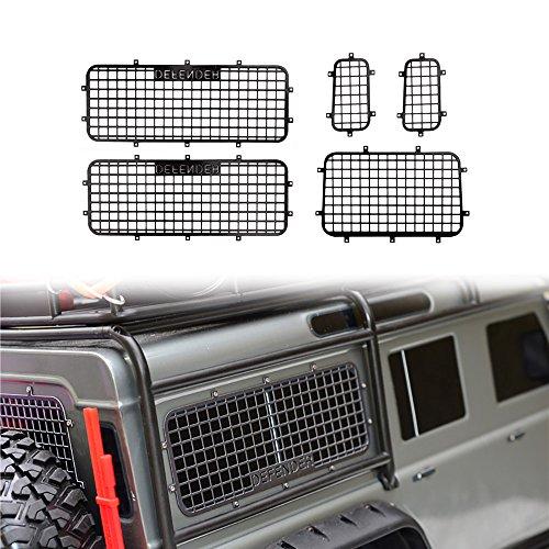 INJORA TRX4 T4 Metal Window Mesh Protective Net Logo for 1/10 RC Crawler Car Traxxas Trx-4 Trx 4