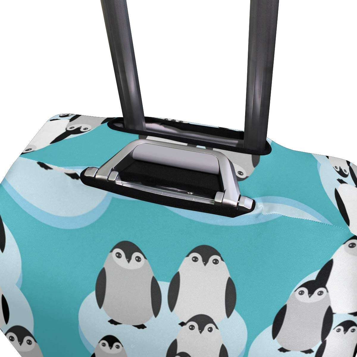 Ice Big Black Penguin Travel Luggage Protector Case Suitcase Protector For Man/&Woman Fits 18-32 Inch Luggage
