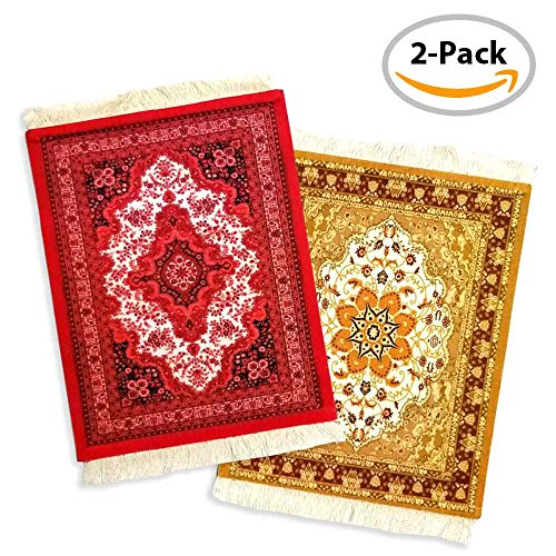 Price comparison product image Rug Mouse Pad – 2 PACK - Persian Rug Mouse Pad – Oriental Rug Computer Mousepad – Persian Desk Rug Coaster Mouse Pad