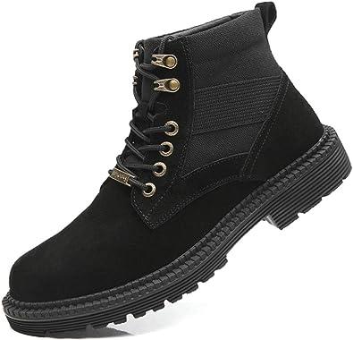 XJH Brown \u0026 Black Fahion Work Boots