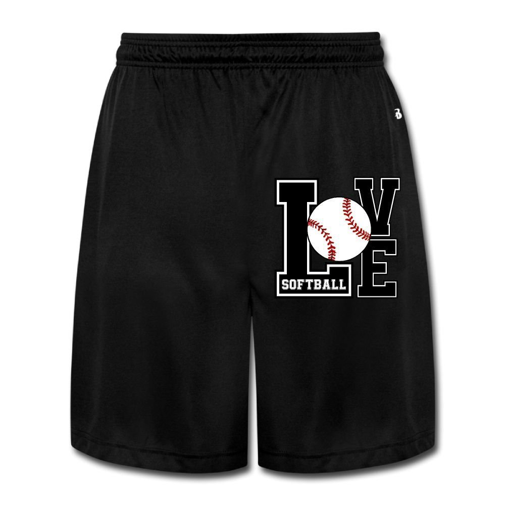 Love Softball Mens Casual Loose-Fit Sports Jersey Cargo Shorts