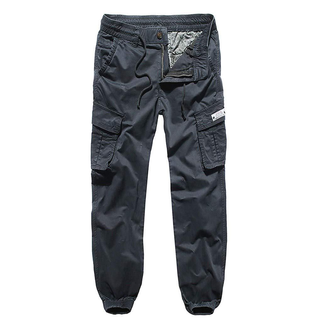 Men's Cargo Pants Outdoor Lightweight Hiking Camping Multi Pockets Reinforced Knees Climbing Mountain Pants (S, Navy)